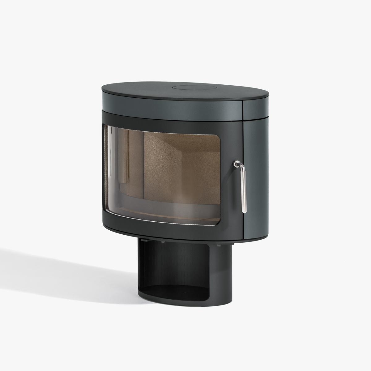 grey wood stove