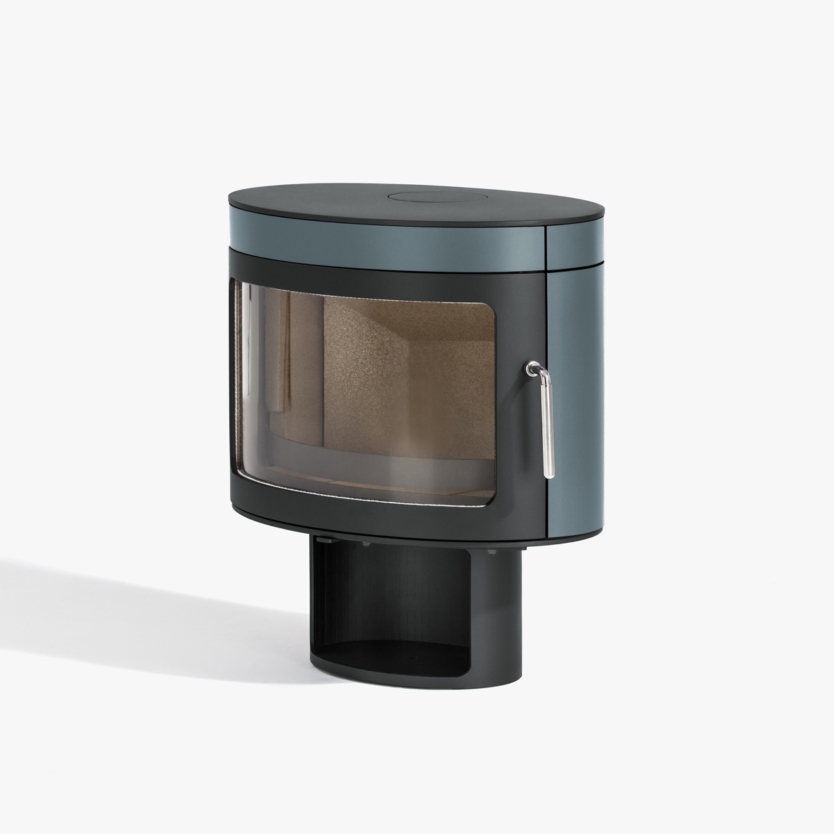 blue wood stove